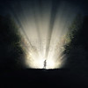 Man stands in the light
