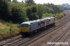140725-012     DCR class 56 no 56311 is seen heading away from the camera with fellow class members 56098 and 56006 in tow is seen passing Hasland, running as 0Z58, 11.00 Barrow Hill to Leicester
