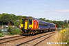 140723-004     East Midlands Trains class 156 unit no 156473 is seen passing King's Mill foot crossing at Mansfield, with 2H13, the 12.55 Nottingham to Mansfield Woodhouse.