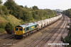 140908-042     Freightliner class 66/6 no 66614 is captured passing Hasland, powering 6M91, 11.13 Theale to Hope, Earles sidings, empty cement tanks.