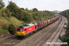 140908-048     DB Schenker class 60 no 60011 passes Hasland with 6E08, 13.03 Wolverhampton steel terminal to Immingham sorting sidings.