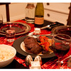 Steak with Tomatoes, Onions, and Potatoes Over Rice served with La Crema Monterey Pinot Noir