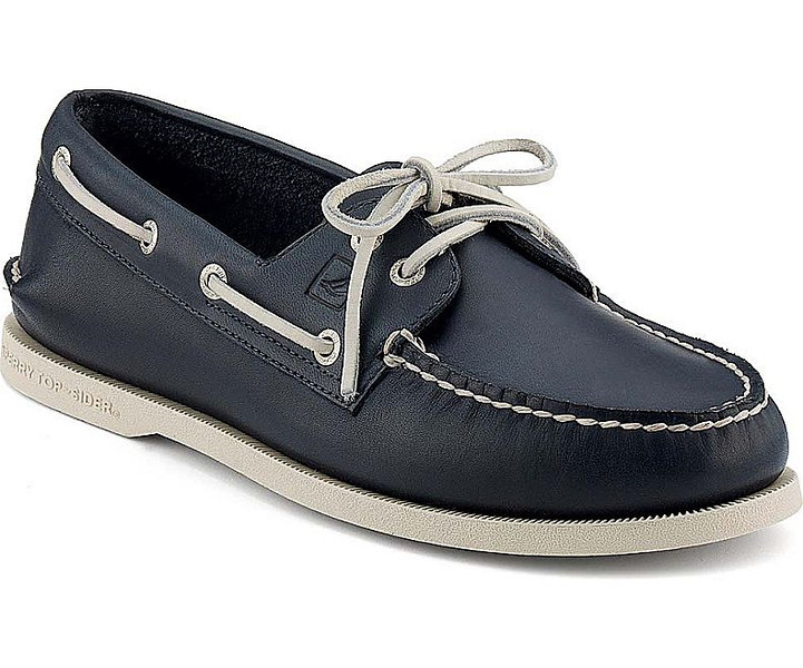 0001 Sperry Navy School Spirit Authentic Original 2-Eye Boat Shoe