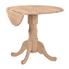 "2005-09-08 Wood You Furniture, Inc  36"" Dropleaf Table w:Pedestal $131 56"