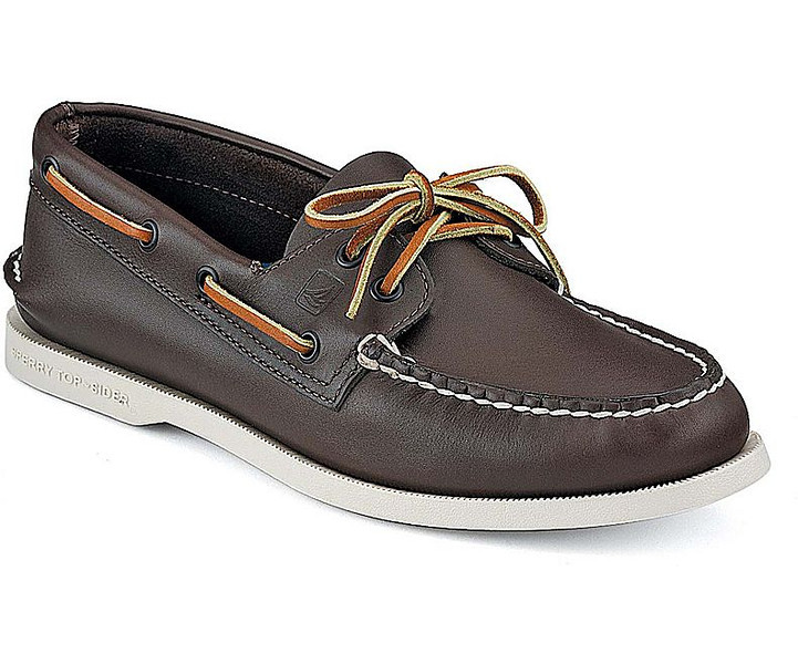 0001 Sperry Classic Brown Leather Authentic Original Boat Shoe