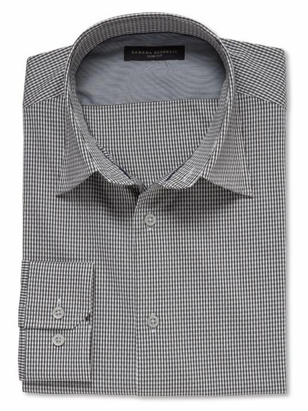 2011-09-07 Banana Republic Slim fit micro-check shirt $26 39