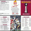 1988 Frito Lay Redskins Schedules