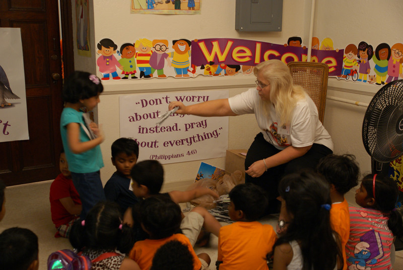 Pre-school class at VBS.  SOAR team working with Indian Christian Church in Yonkers, NY 2013.