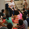 SOAR team working with elementary children at VBS with the Indian Christian Church in Yonkers, NY.