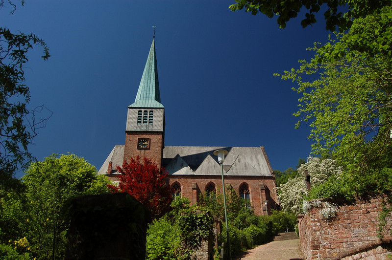 Protestant Church Landscape in Weilerbach, Germany