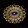 Round Stained-Glass Window in Strassbourg Cathederal