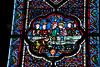 Staned glass,glasraam,vitrail,Pebntecost,pinksteren,pentecôte,Saint Omer,France,Frankrijk