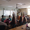 Earl Wooster High School students in Reno hear the EndDD distracted driving presentation.