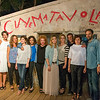 Group portrait for the guests artists of Tavolara film festival 2013. From left: Emilio Solfrizzi, Ambra Angiolini, Maria Sole Tognazzi, Vanessa Compagnucci, Alessia Barela, Iaia Forte, Anna Ferzetti, Lucia Mascino, Ivan Cotroneo, Francesca Cima, Neri Marcorè.