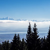 Mont Blanc and Geneva from the Jura