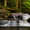 Cascading waterfall at Ricketts Glen State Park, Pennsylvania