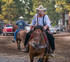 Bobby Kerr warming up one of his trained wild mustangs - Friday night at the 2014 Sisters Rodeo - Sisters, Oregon © 2014 Gary N. Miller, Sisters Country Photography