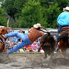 Rodeo steer roping action