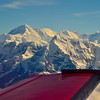 Flying over the Everest mountain range