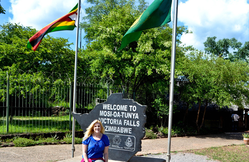 Entering Victoria Falls National Park on the Zimbabwe side