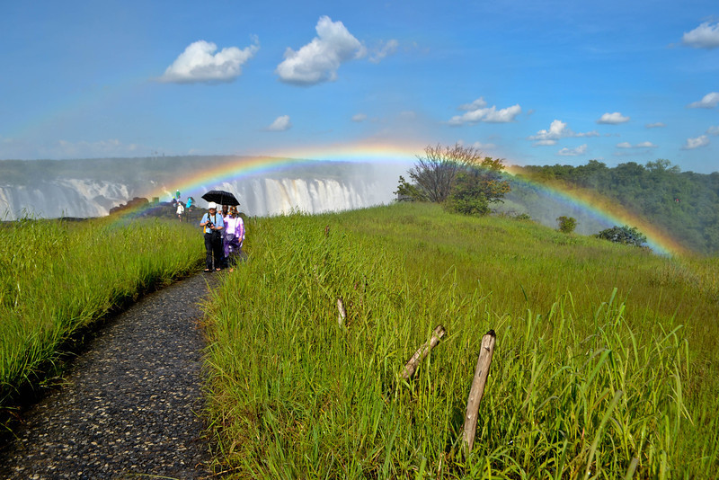 Victoria Falls...so many rainbows