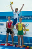 World Rowing Under 23 Championships 2014, Varese, Italy.<br /> Final  A (places 1-6)<br /> Medal ceremony<br /> M1X<br /> <br /> Photo: Stefan Racila