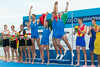 World Rowing Under 23 Championships 2014, Varese, Italy.<br /> <br /> Victory ceremony<br /> M4-