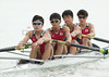 World Rowing Under 23 Championships 2014, Varese, Italy.<br /> Thursday<br /> Heats<br /> LM4-