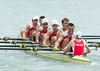 World Rowing Under 23 Championships 2014, Varese, Italy.<br /> Thursday<br /> Repechage<br /> W4-