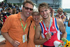 World Rowing Under 23 Championships 2014, Varese, Italy.<br /> Sunday<br /> Final (places 1-6)<br /> Victory ceremony<br /> LM2X