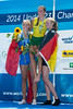 World Rowing Under 23 Championships 2014, Varese, Italy.<br /> Final  A (places 1-6)<br /> Medal ceremony<br /> W1X<br /> <br /> Photo: Stefan Racila
