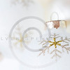 High Key Christmas Bulbs on White Background.