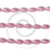 braided pink cord isolated on white background