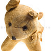 antique stuffed dog isolated on white
