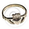 vintage traditional Claddagh ring isolated