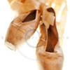 ballet slippers well-worn condition