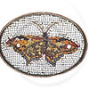 antique Italian glass butterfly mosaic