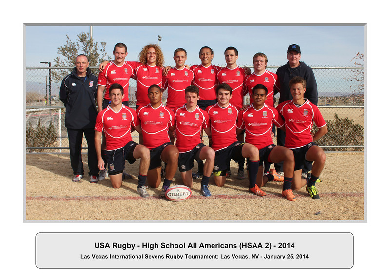 USA Rugby - High School All Americans (HSAA 2) - 2014 - Las Vegas International Sevens Rugby Tournament; Las Vegas, NV - January 25, 2014