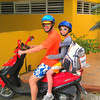A very popular form of transport on the island.   Jason & Jaxcito look super cute on that scooter.