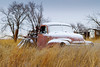 Old truck at the intersection of Texas Highways 94/656