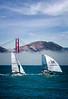 The America's Cup Race in San Francisco Bay