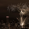 New Year Fireworks at Seattle