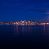 Seattle Skyline During Mid Autumn Festival