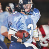 Falcons' Kevin Rignot (3) runs for yardage during the first quarter of a football game between the Crescenta Valley High School Falcons and the visiting Arcadia High School Apaches in Glendale, CA on November 12, 2009.  (STAR-NEWS/Correspondent photo by David Thomas/SPORTS)