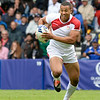 July 27, 2014 - Rugby Sevens - Samoa vs. England in the Quarter finals during the Rugby Sevens at the 20th Commonwealth Games in Glasgow, Scotland.<br /> <br /> Marcus Watson (#9) of England running after receiving a pass. <br /> <br /> Final score of the game was Samoa 15 and England 14.<br /> <br /> If you have any questions don't hesitate to reach out to us!<br /> <br /> Thanks!<br /> <br /> Photos by Al Milligan, Al Milligan Images, 2014