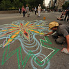SAND PAINTING  IN  UNION SQUARE PARK