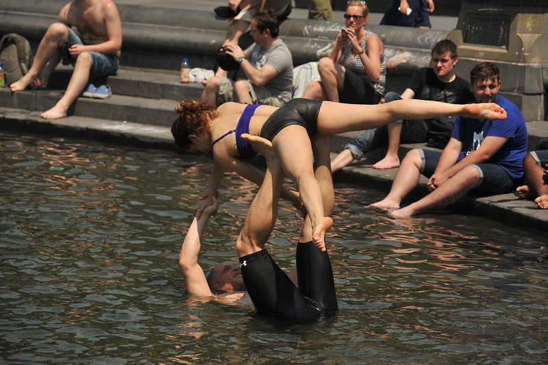 AcroYoga in Washington Square Park