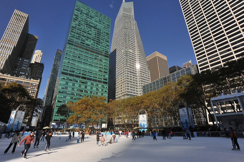 SKATING  IN  BRYANT  PARK