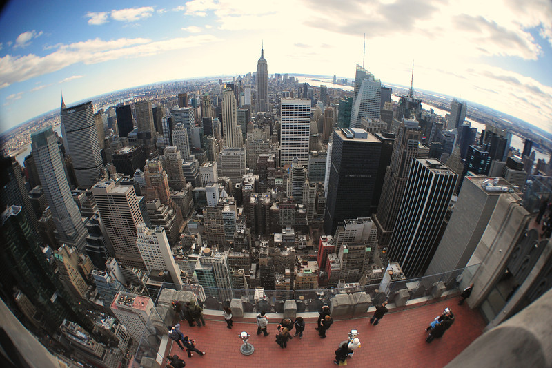 EMPIRE  STATE  BUILDING    /    View  from  Top  Of  The  Rock   -       Rockefeller  Center,  Manhattan   NYC