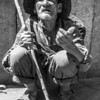 A beggar begging for food in La Paz, Bolivia